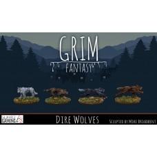 15mm Grim Fantasy - Dire Wolves