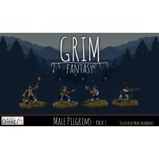 15mm Grim Fantasy - Male Pilgrims pack 1