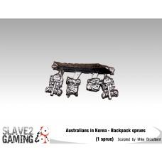28mm Australians in Korea - Backpack Sprues