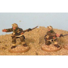 28mm Bardia -  NCOs with Rifle