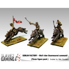 GOBLIN FACTORY - Goblin Wolf riders Unarmoured Command