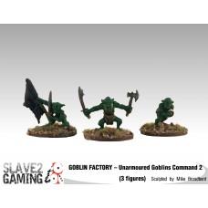 GOBLIN FACTORY - Unarmoured Goblin Command #2
