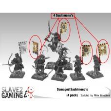 Undead Samurai Skeleton Sashimono's