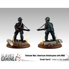 VIETNAM WAR - American 54mm range - M60 Light Machine Gun