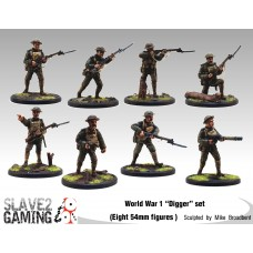 WW1 Diggers 54mm range - Complete set