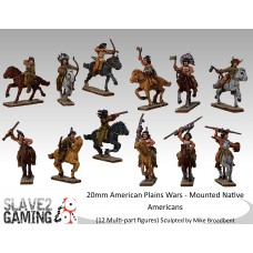American Plains Wars - Mounted Native Americans