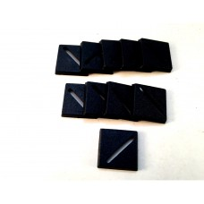 20mm square bases (10 pack)