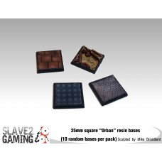 "25mm Resin ""Urban"" square bases (10 pack)"