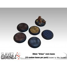"""30mm Resin """"Urban"""" Round nose bases (10 pack)"""