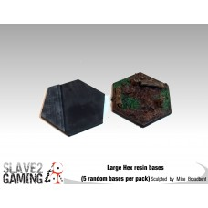 Large sized Resin HEX bases (5 pack)