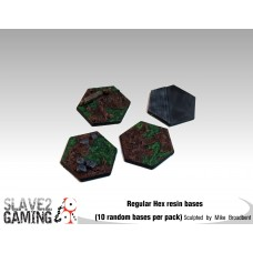 Regular sized Resin HEX   bases (10 pack)
