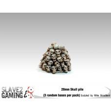 28mm scale resin skull pile (3 pack)