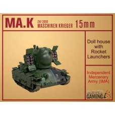 MASCHINEN KRIEGER in 15mm - IMA Doll House with Rocket Launchers