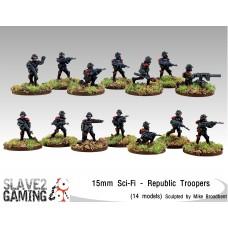 Sci-Fi in 15mm - Republic Troopers