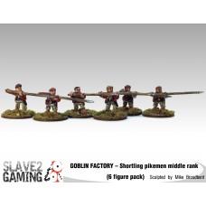 GOBLIN FACTORY - Shortling Pikemen Middle rank