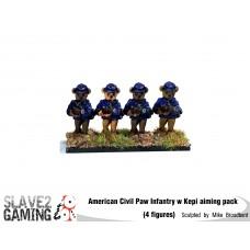 Battle of Teddysburg - Infantry with Kepi aiming pack