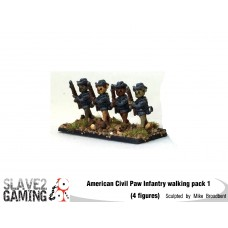 Battle of Teddysburg - Infantry with hat walking pack 1