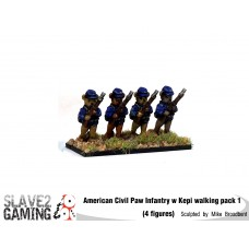 Battle of Teddysburg - Infantry with Kepi walking pack 1